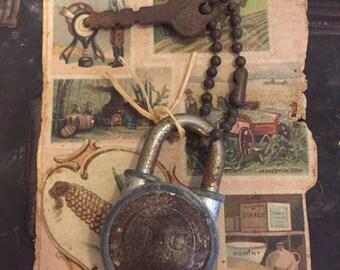 Vintage Walsco Padlock and Key 9-9