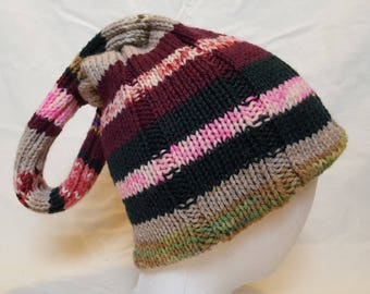 Hand Knit Klein Bottle Hat
