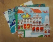 Love, India - recycled book pages into envelopes - With Cards