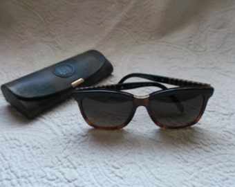 Pair of Authentic Vintage  FENDI Tortoiseshell Sunglasses with  Vintage Case