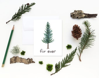 Douglas Fir Card / Oregon Card / Greeting Card / Douglas Fir / Valentine Card / Pacific Northwest Card / Oregon / Cascadia Card /Evergreen