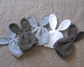 Bunny Hat/Newborn or 0-3 Months/5 Colors/Cute Photo Prop/Woodland Bunny/Snowbunny/Chocolate Bunny/Spring Grey Bunny/Ready to Ship