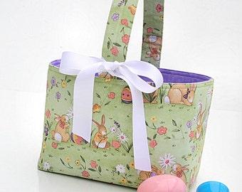 Easter Basket Boutique candy bucket bunnies vintage look