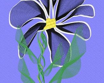 Fabulous Flower  Machine Embroidery Design  by LetZRocK 3077.80.81