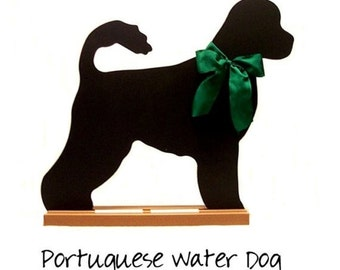 PORTUGUESE WATER DOG Shaped Chalkboard - A Pet Lover Favorite - Fun and Unique - A Pet Lover Favorite