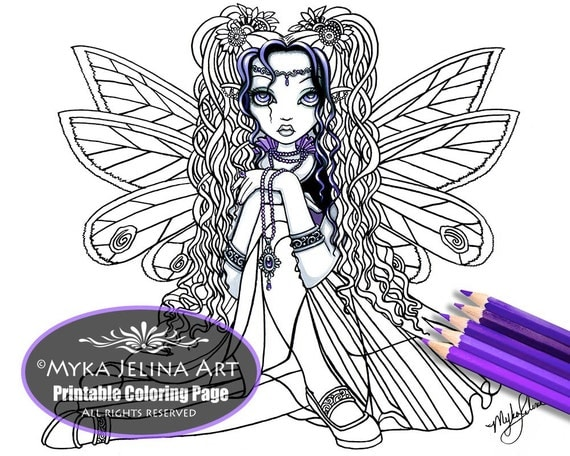 myka jelina coloring pages items similar to kiara butterfly fairy digital download