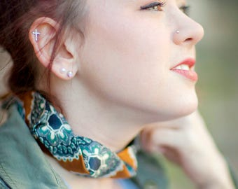 Fabric Choker - Choker Necklce - Neckties For Women - Hipster Clothing - Memorial Gift - Silk Choker - Spice Colored Necktie. 05