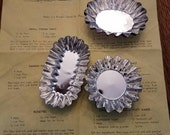 Set of 12 Tart or Biscuit Forms Sandbakkel Tins with Recipes