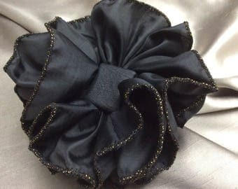 True Black Hair Bow, Clip or Claw