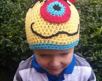 Yellow Monster Hat - Boy Hats/Winter Hats/Character Hats