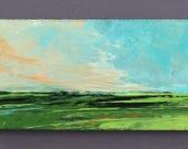 Mini 1726, 0riginal oil painting, landscape, miniature art, 100% charity donation, oil painting on cardboard