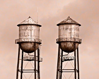 Duluth Waterfront, Water Tower, Minnesota Architecture, Rose Photograph, Pink Print, Duluth Decor, Wall Decor, 5 x 7, Fine Art, Office Decor