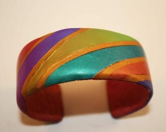 Polymer  Jewel-toned Bracelet