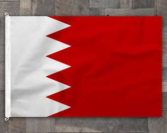 100% Cotton, Stitched Design, Flag of Bahrain, Made in USA
