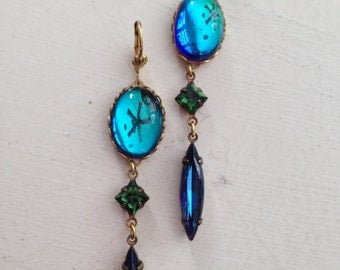 Vintage Crystal, Rhinestone  and Glass Earrings   *FREE SHIPPING*