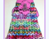 Reserved for Mitzi Dog Clothing  Spoonflower Hand Knit Look Slip Dress