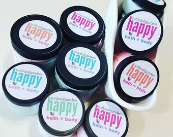 Gift for Her. PEPPERMINT FLUFF Body Butter. Mini Pocket Size. 2 oz jar. Mom Gift. Best Friend. Essential Oil