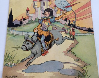Tom Thumb Children's Book Illustrations by Eulalie Banks Vintage 1934