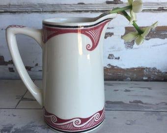 Vintage Sante Fe Cocoa Pot - Syracuse Mimbreno RARE  Restaurant Ware Creamer Pitcher