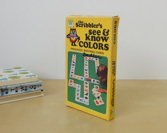 Vintage The Scribbler's See and Know Colors - Boxed Set 1980