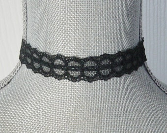 Black Lace Choker Necklace, Gothic, Vampire, Victorian, Black Choker, Lace Choker, Dark, Hipster, Gift for Teen, Prom Choker Necklace
