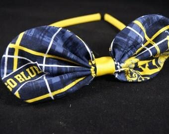 Maize & Blue Bow/Headband Slider