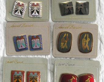 Laurel Burch earrings lot  . earrings for pierced ears . Laurel Burch . lot of 6 . 6 Laurel Burch earrings