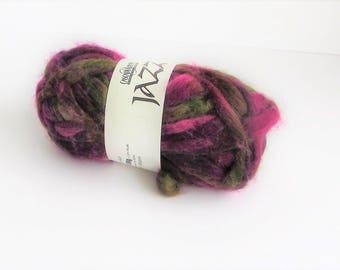 Jazz 314, Cascade yarn, wool, chunky, wine, green, brown, yarn, destash, C