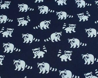 4504 - Raccoon Cotton Fabric - 55 Inch (Width) x 1/2 Yard (Length)
