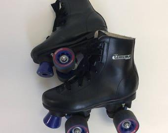 Vintage Kid's Black Roller Skates Kid's Sz 2