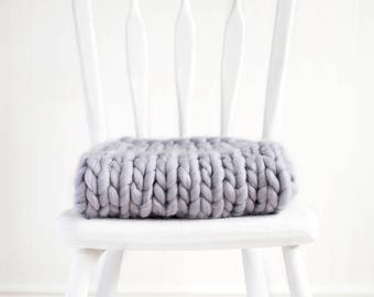 Extra Thick Baby Blanket Photography Prop, Grey, Basket Stuffer, READY TO SHIP Newborn Photo Prop