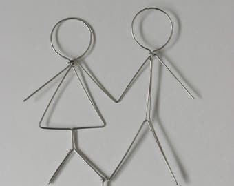 Wedding Cake Topper Stick Figures: FOREVER FRIENDS