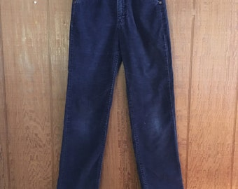 Vintage 80s blue corduroy trousers by Lee XS