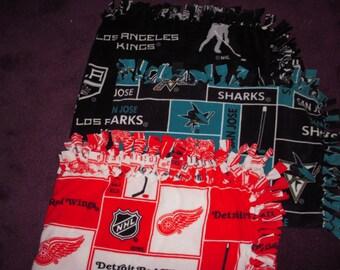 Hockey Team Fleece Lap Blanket