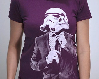 Smart trooper womens graphic tee, star wars funny shirt, gift for her, gift for wife, print t-shirt, geeky