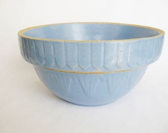 vintage primitive blue bowl rustic farmhouse yellowware crockery