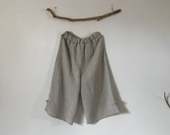 custom linen elastic waist peasant Capri made to fit listing