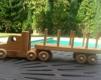 Solid Wood Tractor Truck and trailer