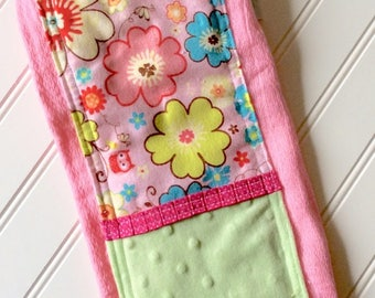 Baby-Burp-Cloth-Girls-Pink-Flowers-Owls-Mnky Dot-Designer-Diaper-6 Ply-Shower-Nursery-Decor-Newborn-Monogrammed-Personalized-Gifts-Gift-Sets