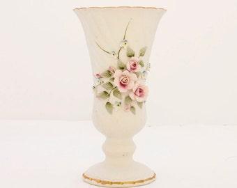 Lefton Porcelain Vase, Vintage Lefton Vase 828, Lefton Floral Vase, Vintage Lefton, Vintage Vase, Vintage Porcelain, Flower Vase, Home Decor