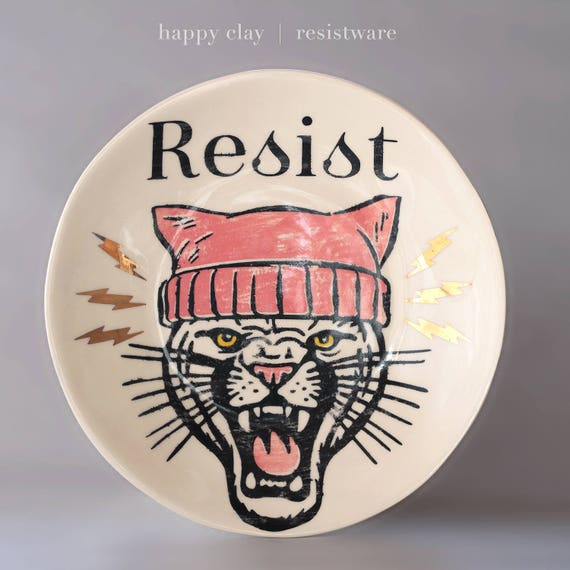 12 inch Wall to Table Resist ware plate