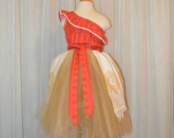 Polynesian Princess with Tulle - Girls size 3 - 14