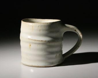 White Stoneware Coffee Mug