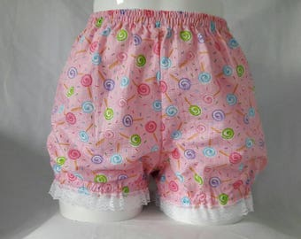 Pink or blue fairy kei candy cakes sweets micro mini bloomers