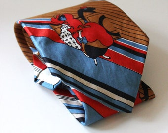 Guy and Gal. Vintage 1970s tie, mod necktie. Peter Max Style.