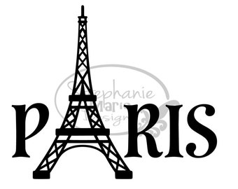 Paris Eiffel Tower-SVG Cut File-Use with Silhouette Studio Design Edition,Cricut Design Space and others