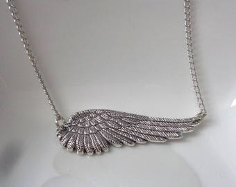 Large Angel Wing Necklace,  Wing necklace, Angel Necklace