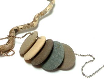 Genuine Drilled Beach Stones Large Rocks SURFER FIVE Charms Jewelry Making River Rocks Beading Natural 29-34 mm Dangles River Rocks