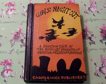 novelty wooden halloween book