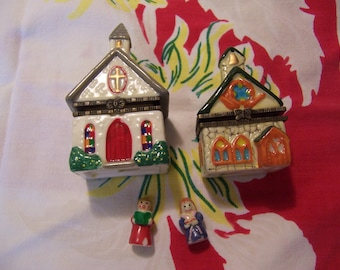 two little church hinge boxes